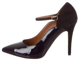 Malone Souliers Mary-Jane Pointed-Toe Pumps