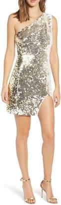 TIGER MIST Sienna Flip Sequin One-Shoulder Minidress