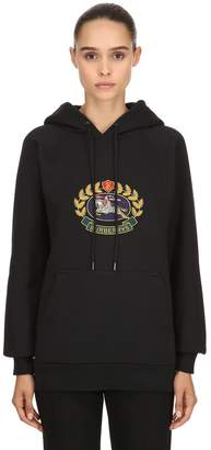 Burberry Hooded Embroidered Jersey Sweatshirt