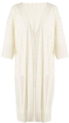Pleats Please Issey Miyake Technical Knit Cover Up - Womens - Cream