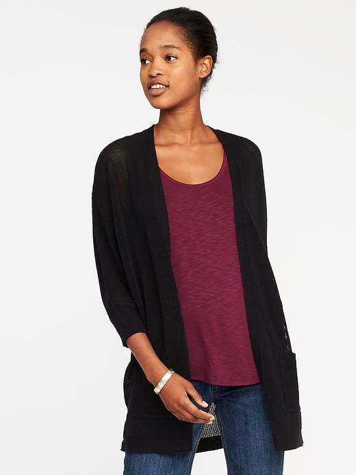 Open-Front Cocoon Sweater for Women