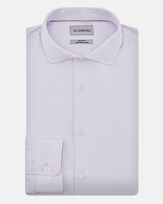 Le Château Argyle Print Cotton Blend Tailored Fit Shirt