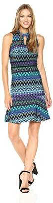 Taylor Dresses Women's Jersey Flounce Bottom Dress with with Piped Waistband
