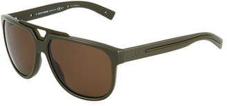 Christian Dior Plastic Square Sunglasses, Green