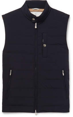 Brunello Cucinelli Slim-Fit Quilted Shell Down Gilet - Men - Midnight blue