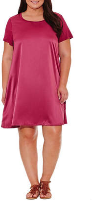 Spense Short Sleeve Sheath Dress - Plus