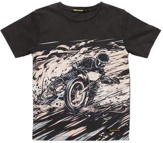 Finger In The Nose Biker Print Cotton Jersey T-Shirt
