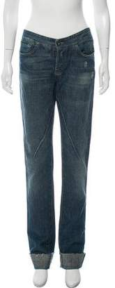 Rick Owens Mid-Rise Straight Jeans