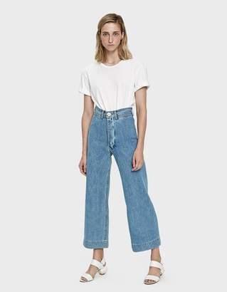 Jesse Kamm Denim Sailor Pant in Light Blue