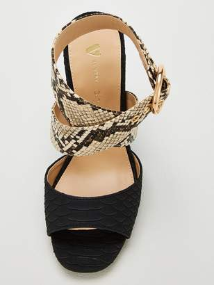 Very Bale Snake And Leopard Heeled Sandals
