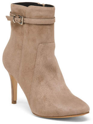 Made In Italy High Heel Suede Booties