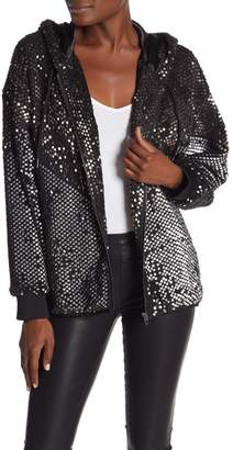 Blank NYC BLANKNYC Denim Silver Studded Sequin Bomber