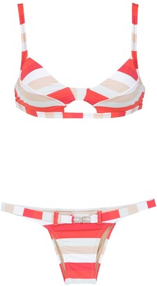 AMIR SLAMA striped bikinis