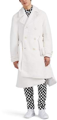 Comme des Garcons Men's Asymmetric Sherpa Belted Trench Coat