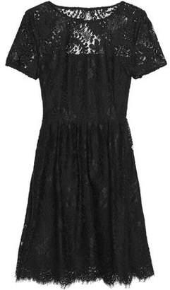 Claudie Pierlot Repeat Pleated Corded Lace Mini Dress