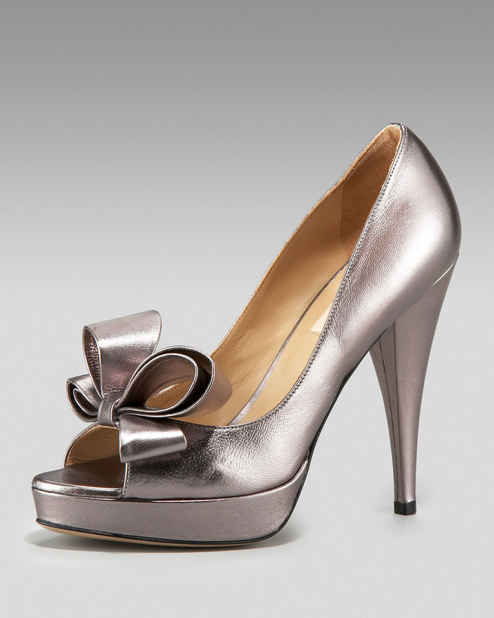 Valentino Couture Peep-Toe Pump