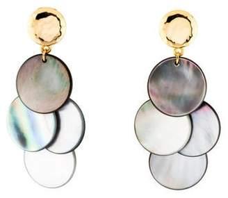 Nest Jewelry Mother of Pearl Cluster Chandelier Earrings