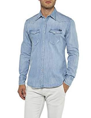 Replay Men's's M4981 .000.26c 475 Denim Shirt Light Blue 10