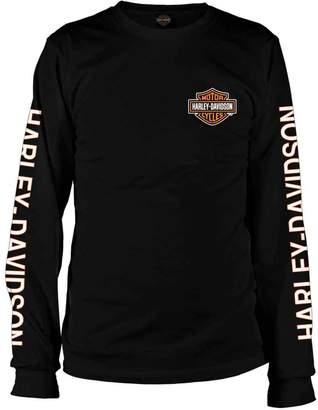 Harley-Davidson Military Bar & Shield Vietnam Veterans - Men's Long-Sleeve Tee MD