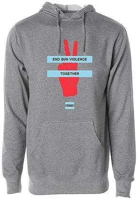 End Gun Violence Together Heather Grey Pullover Hooded Sweatshirt