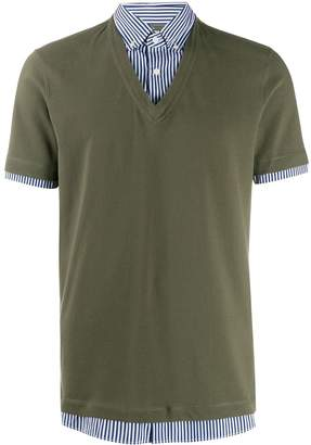 Brunello Cucinelli two-in-one polo shirt