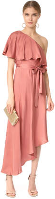 Zimmermann Sueded One Shoulder Long Dress $630 thestylecure.com
