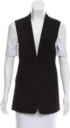 J Brand Sleeveless Notch-Lapel Vest