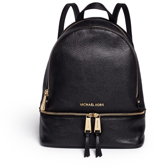 MICHAEL Michael Kors Michael Kors 'Rhea' small 18k gold plated leather backpack