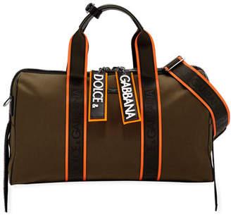 Dolce & Gabbana Men's Chain Canvas Travel Bag