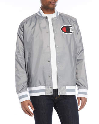 Champion Logo Patch Bomber Jacket