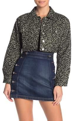 FAVLUX Leopard Print Cropped Jacket
