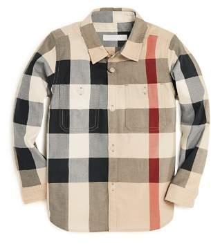 Burberry Boys' Check Print Button-Down Shirt - Little Kid, Big Kid