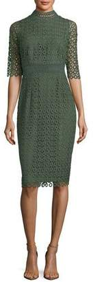 Shoshanna Olivie Lace-Circle Sheath Dress