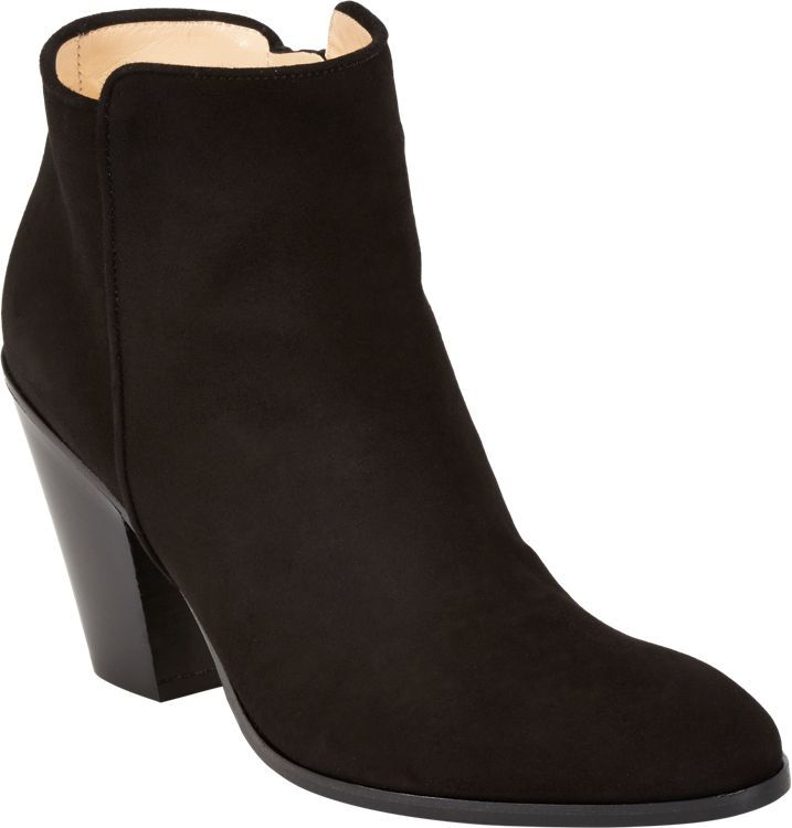 Barneys New York Daddy Point-Toe Ankle Boots-Black
