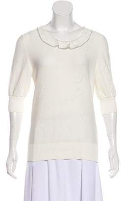 Fendi Ruffle-Trimmed Knit Sweater