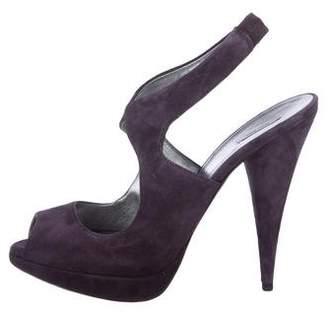 Miu Miu Suede Slingback Sandals