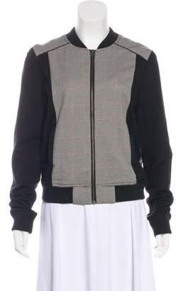 Sam Edelman Houndstooth Zip-Up Sweater