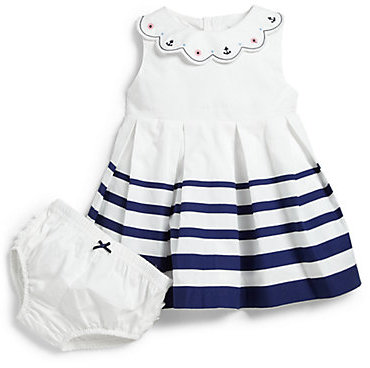 Hartstrings Infant's Striped Nautical Dress & Bloomers Set