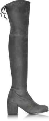 Stuart Weitzman Tieland Asphalt Suede Boots