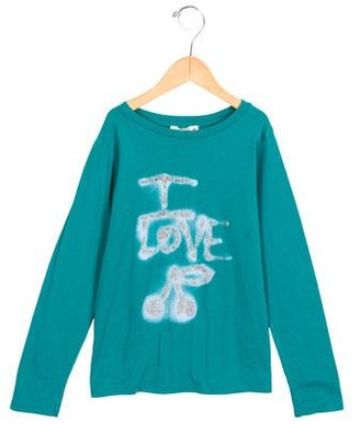 Bonpoint Girls' Glitter-Accented Long Sleeve Top $65 thestylecure.com