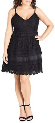 City Chic Plus Nouveau Lace Dress