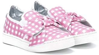 Simonetta checked slip-on sneakers