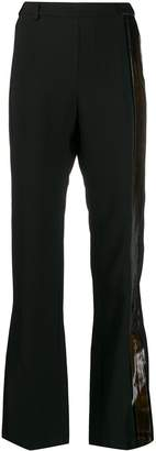 Ilaria Nistri stripe detailed flared trousers