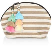 JADEtribe Nautical Striped Double Tassel Cosmetic Case