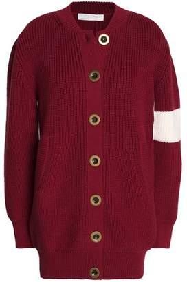 Chloé Ribbed Wool Cardigan