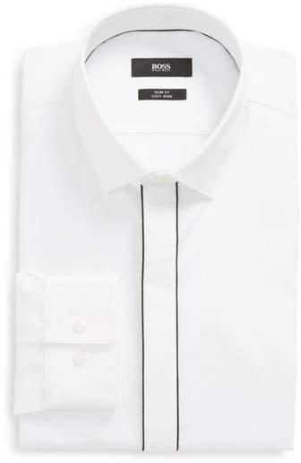 Jamir Slim Fit Easy Iron Solid Dress Shirt