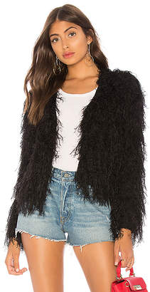 by the way. Louie Furry Black Coat
