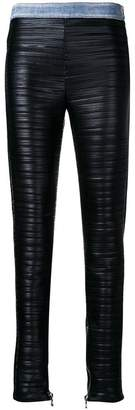 Balmain pleated faux leather trousers