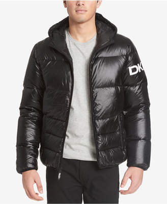 DKNY Men's Hooded Puffer Jacket