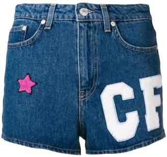 Chiara Ferragni multi-patch denim shorts